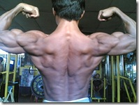 back double bicep pose