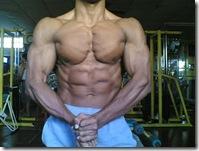 muscular pose