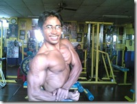side chest pose