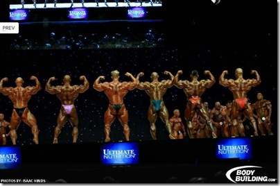 mr Olympia 2009 Double bicep Pose